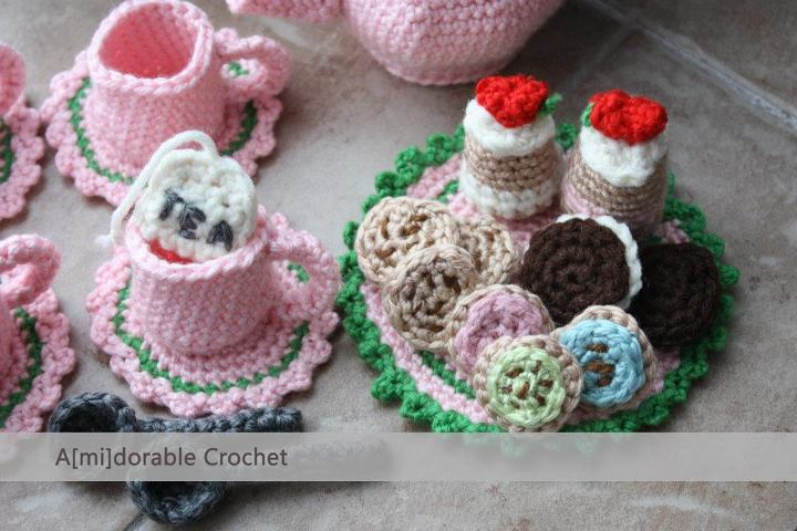 Amidorable Crochet Tea Time Play Set Pattern