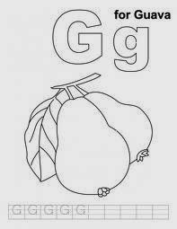 printable alphabet coloring pages guava