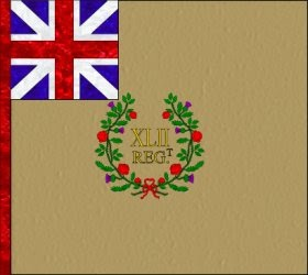 42nd Regiment of Foot (John Murray)  Regimental Colour