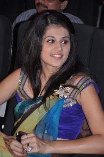 Taapsee Paanu spotted in a spicy transparent saree at a function