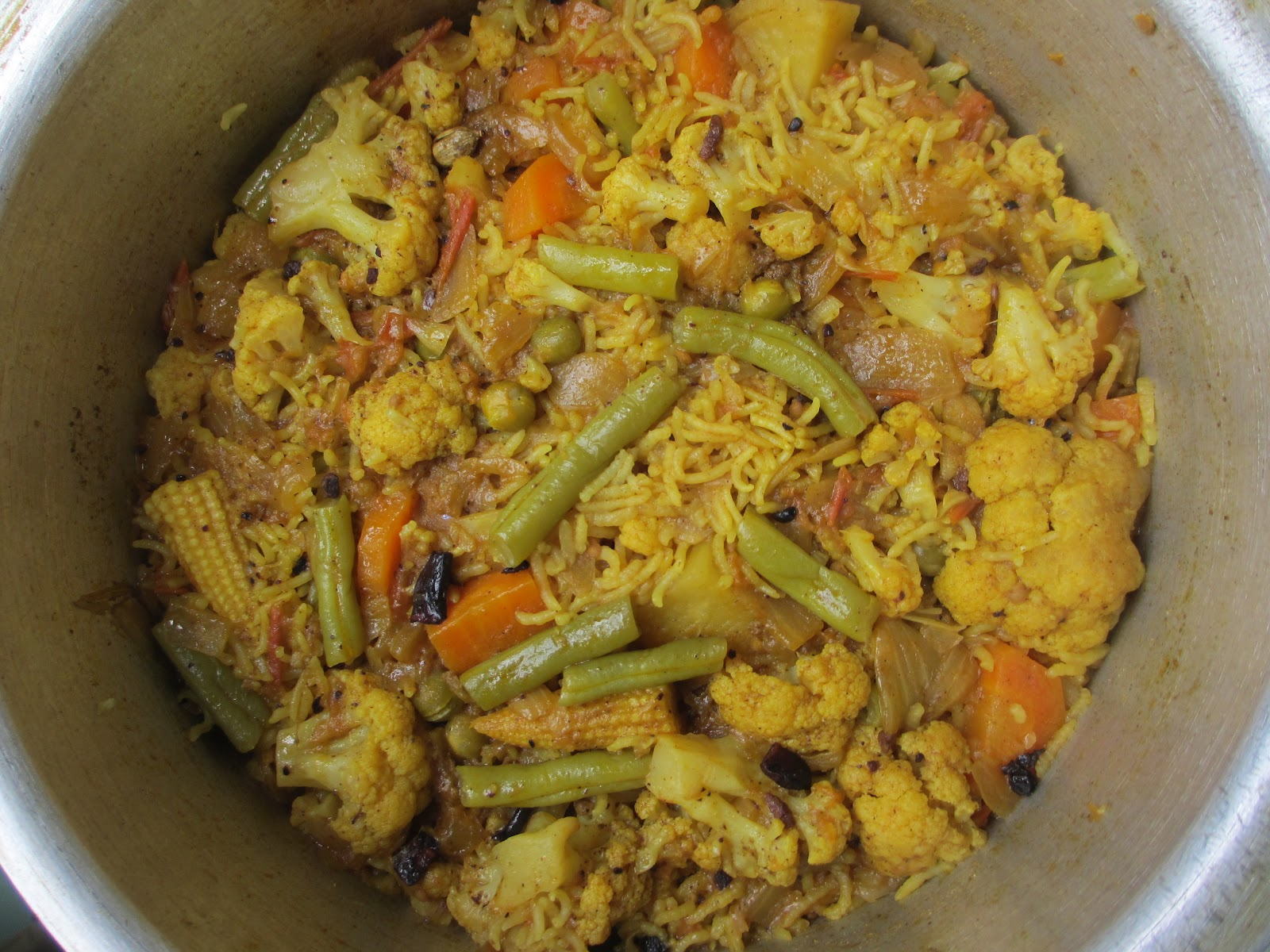 Arpita's: Lets Prepare : Vegetable Biryani
