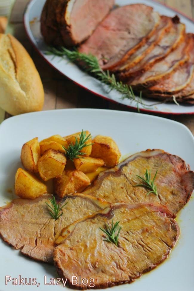 carne de ternera asada en el horno