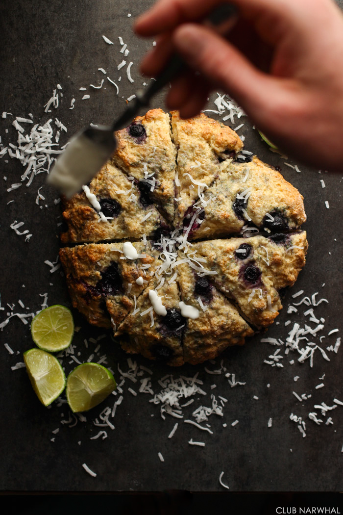 Skinny Blueberry Lime Scones | Club Narwhal