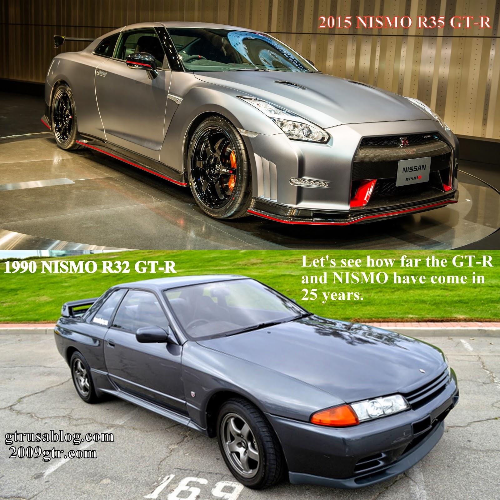 2015 NISMO R35 GT R vs 1990 NISMO R32 GT R 2009gtr