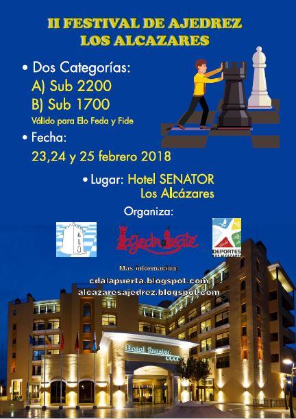 II FESTIVAL DE AJEDREZ LOS ALCÁZARES SUB 2200 Y SUB 1700