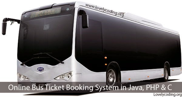 Online Bus Reservation System in Java, PHP , MySQL