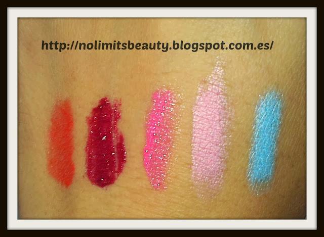 Bálsamo labial con color y sombras resistentes al agua Deliplús - swatches