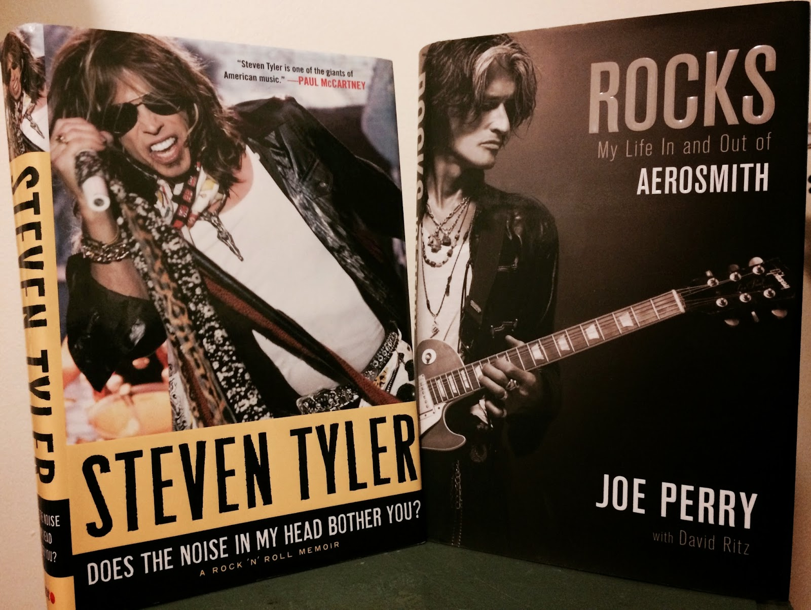 Steven Tyler Joe Perry Autobiographies Aerosmith