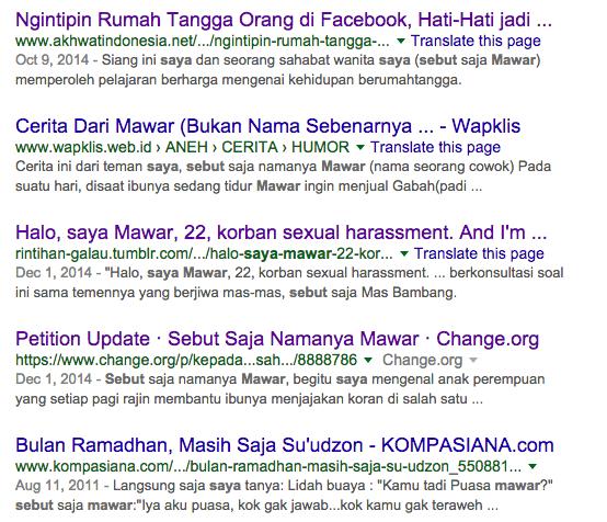 Koleksi nama bayi perempuan indonesia sexual harassment