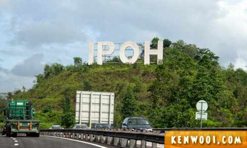 ipoh sign on highway