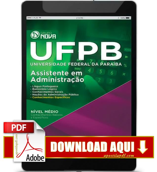 Apostila UFPB 2015 Assistente em Administração PDF Download