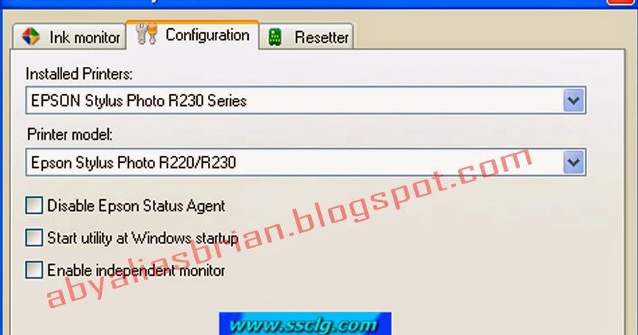 Cara Reset EPSON R230 Menggunakan SSC SERVICE UTILITY