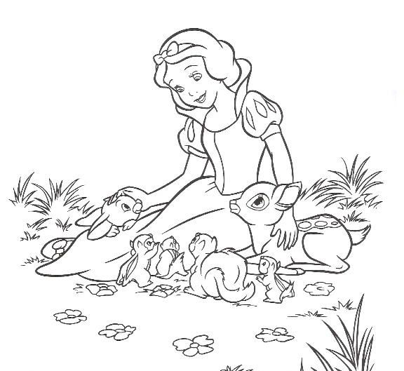 Coloring Pages Princess Snow White : Cartoons coloring pages princess snow white