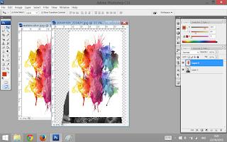 Tampilan setelah foto tekstur dimasukkan ke foto yg akan kita edit