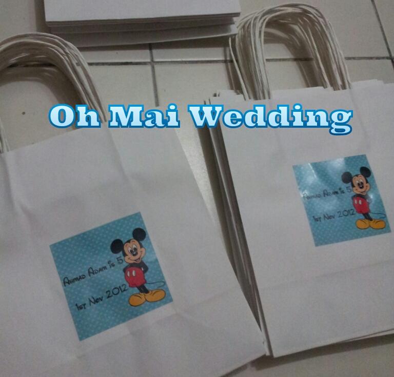 Oh Mai WeddingDoor gift Sticker Kahwin Bunting Button Badge: White ...