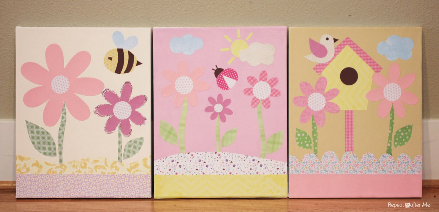 Repeat Crafter Me: Baby Girl Nursery DIY decorating ideas