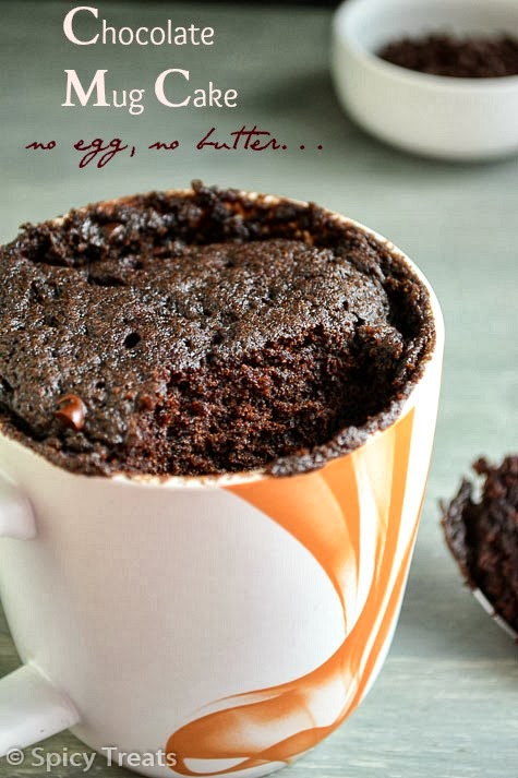 Mug Cake / Eggless Chocolate cake in a Mug / Microwave Chocolate Cake ...