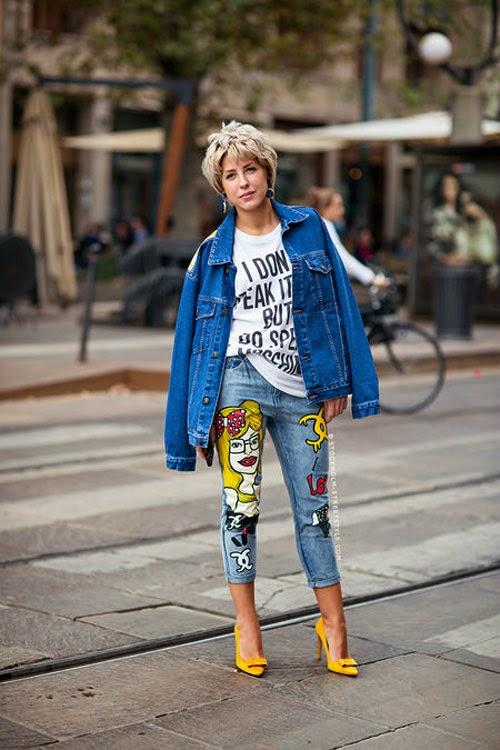 Mốt quần jeans đắp vá hãy cùng đổi gió nào