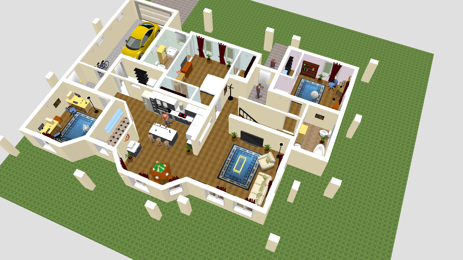 Sweet home design 3d this wallpapers 3d house designing