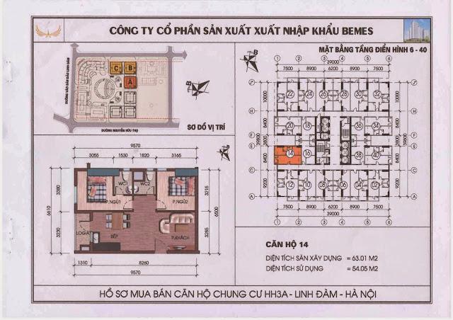 Căn hộ 14 - Chung Cư HH3A Linh Đàm