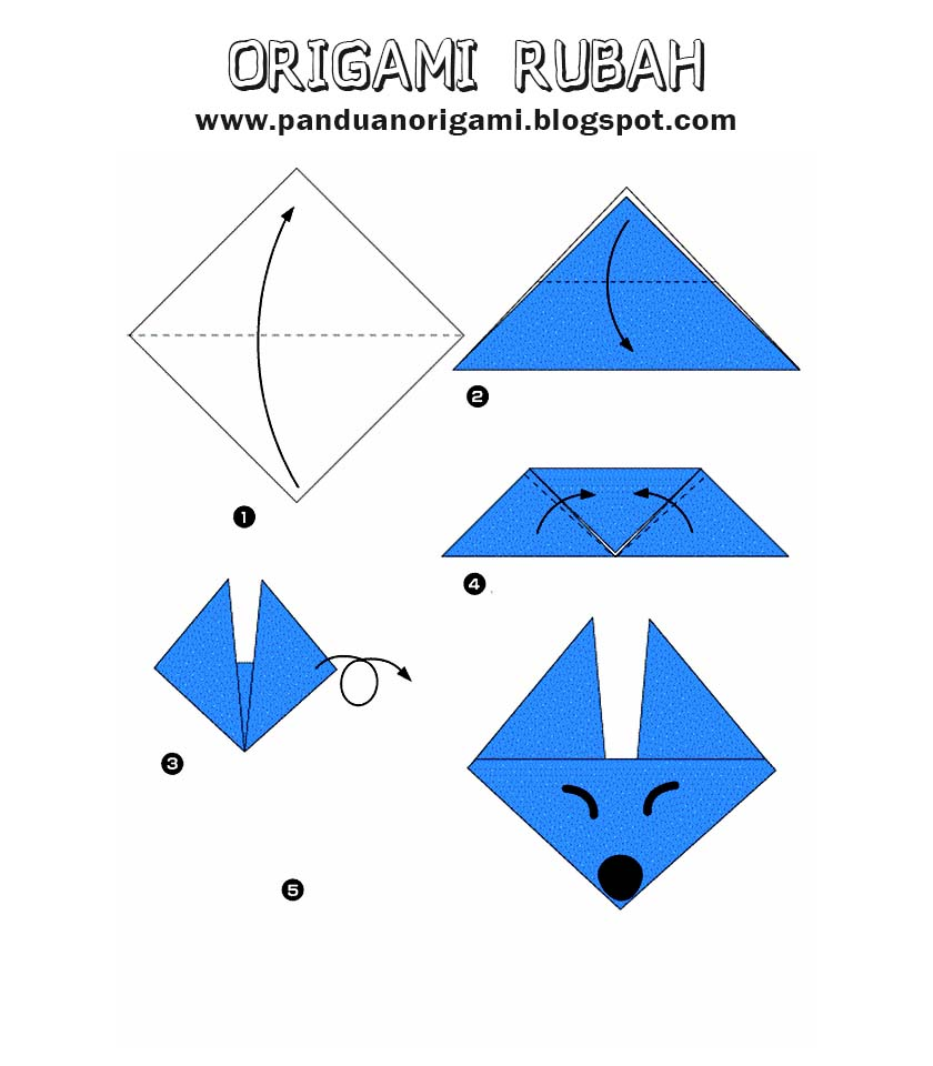 Cara Membuat Origami Hewan Rubah Panduan Belajar Membuat Origami