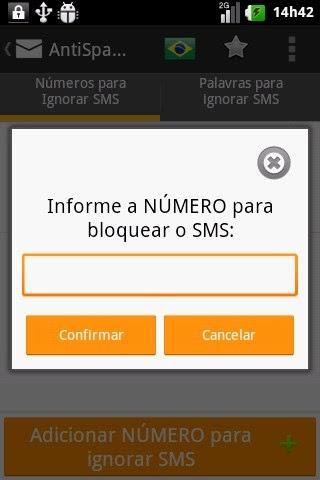 Aplicativo AntiSpam SMS Droid