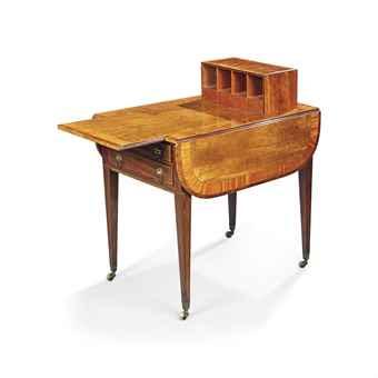 Harlequin pembroke scrivania-tavolo con anta a ribalta