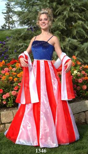 Angees Eventions American Flag Wedding Dress Yes Or No
