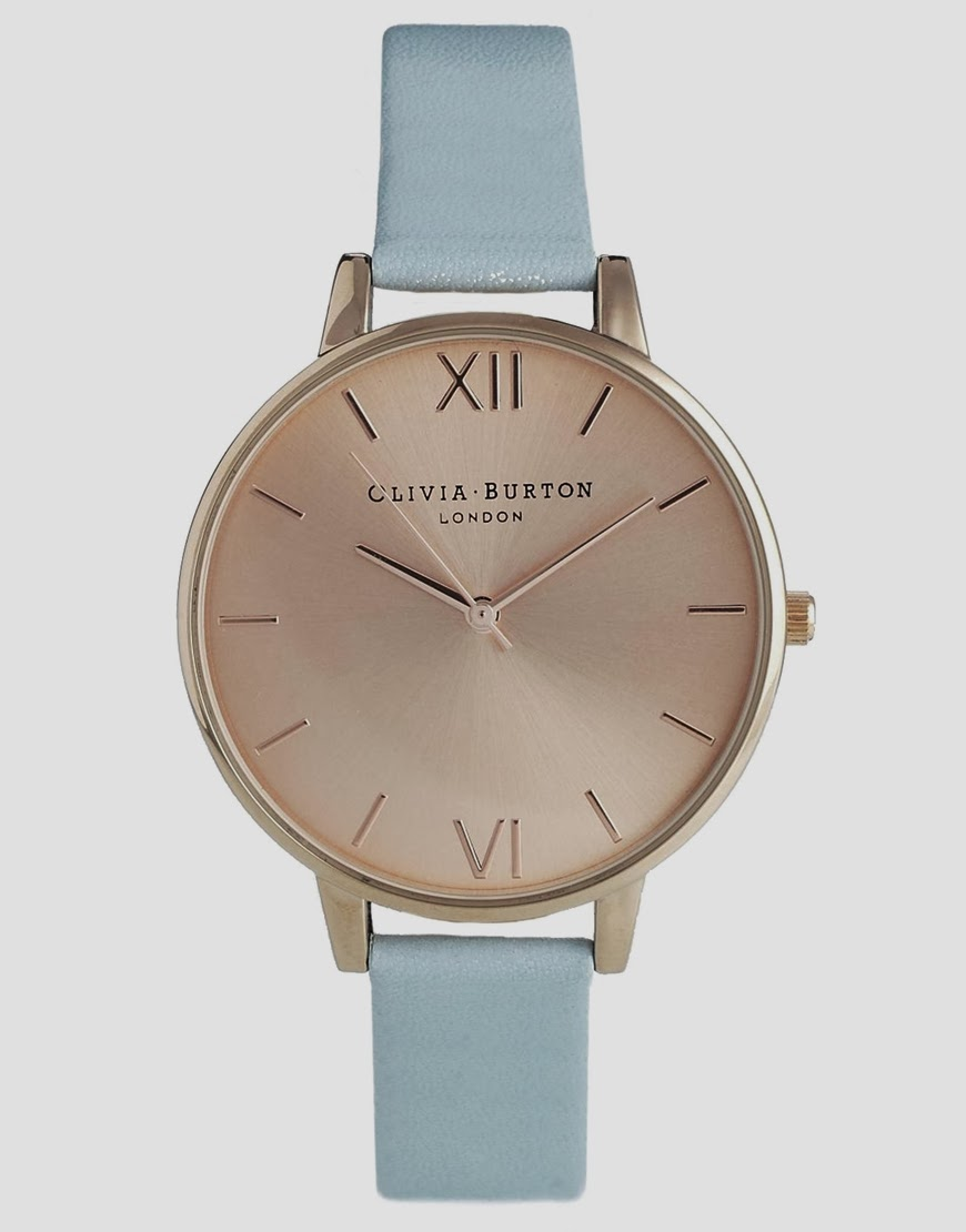 olivia burton blue watch
