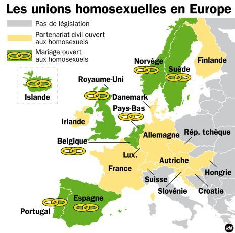 Quels sont les pays o le mariage gay est autoris ? www