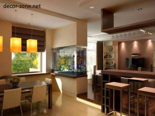 kitchen aquarium, kitchen decorating ideas