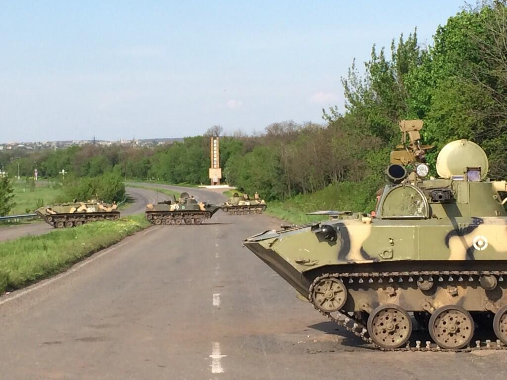 The Situation in the Ukraine. #6 Kramatorsk+checkpoint+2