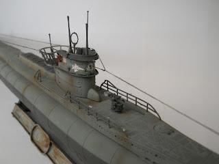 antenas y cañón antiaéreo del submarino alemán VIID minador