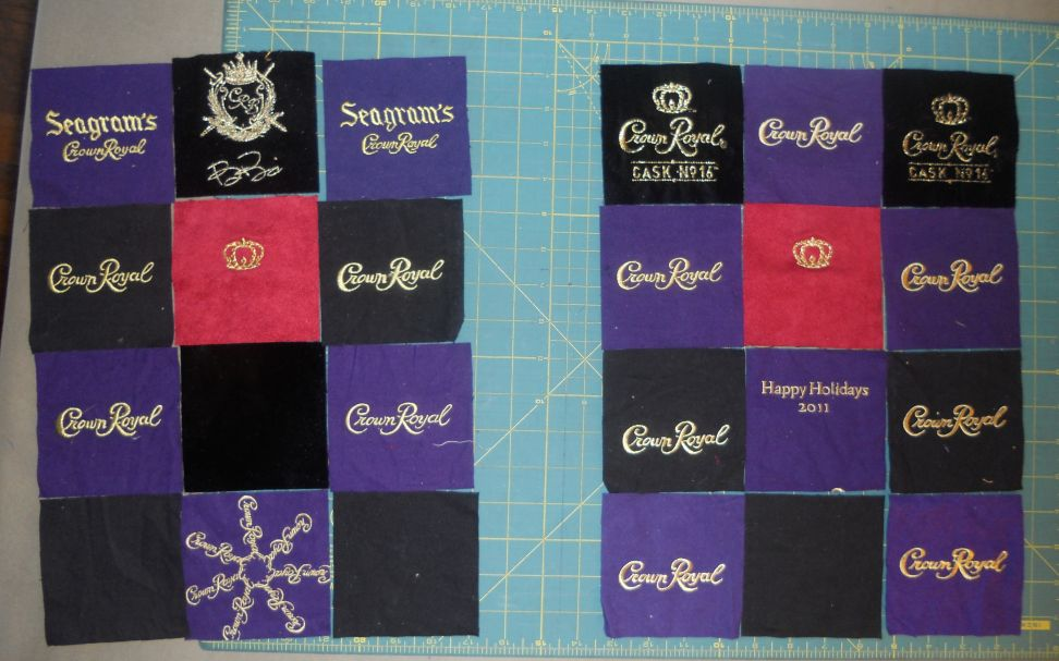 Katies Quilts And Crafts New Crown Royal Quilt
