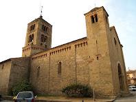 Les façanes nord i ponent de l'església de Santa Eugènia de Berga