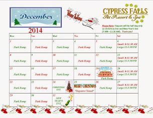 Doggie Daycare Calendar