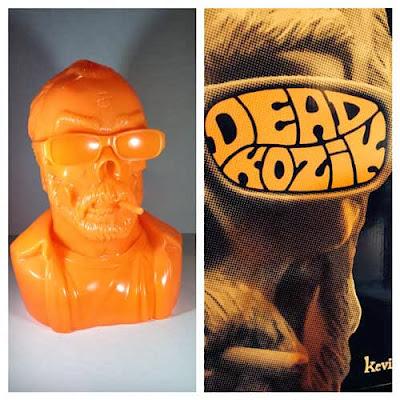 FrankKozik.net Exclusive Orange Dead Kozik Vinyl Bust by Kevin Gosselin
