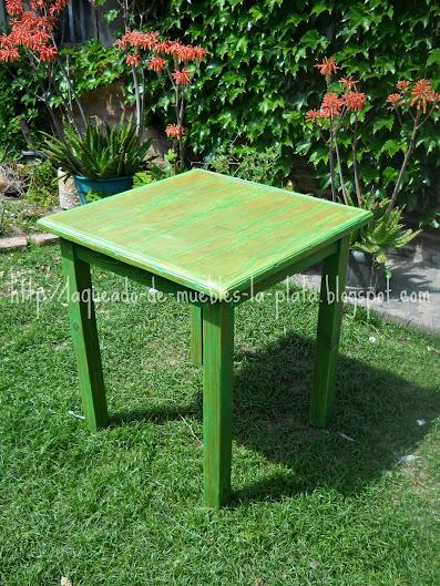 Terminaci n decape color verde y lustre con cera en for Cera para muebles