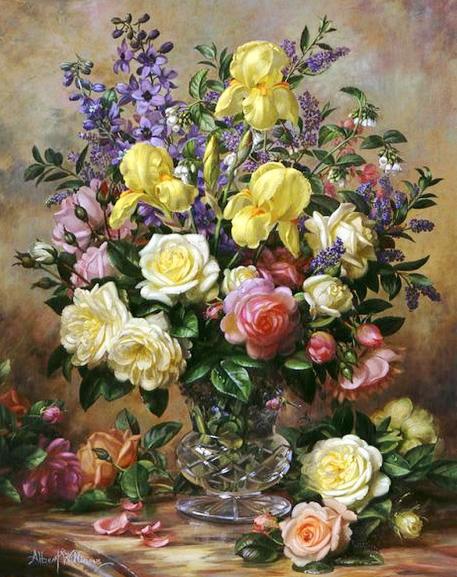 Cuadros modernos pinturas y dibujos bodegones de flores - Ramos de flores modernos ...