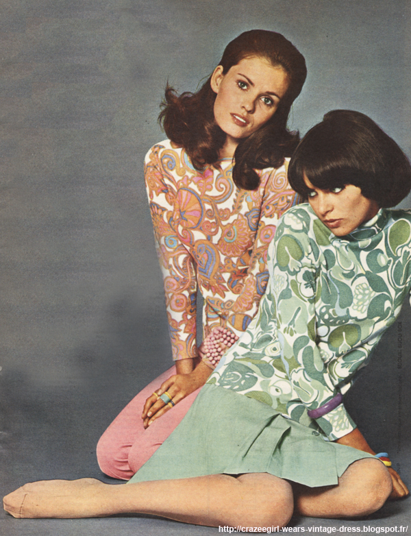 Dralon and lambswool sweater - 1969 floral paisley flower 60s 1960