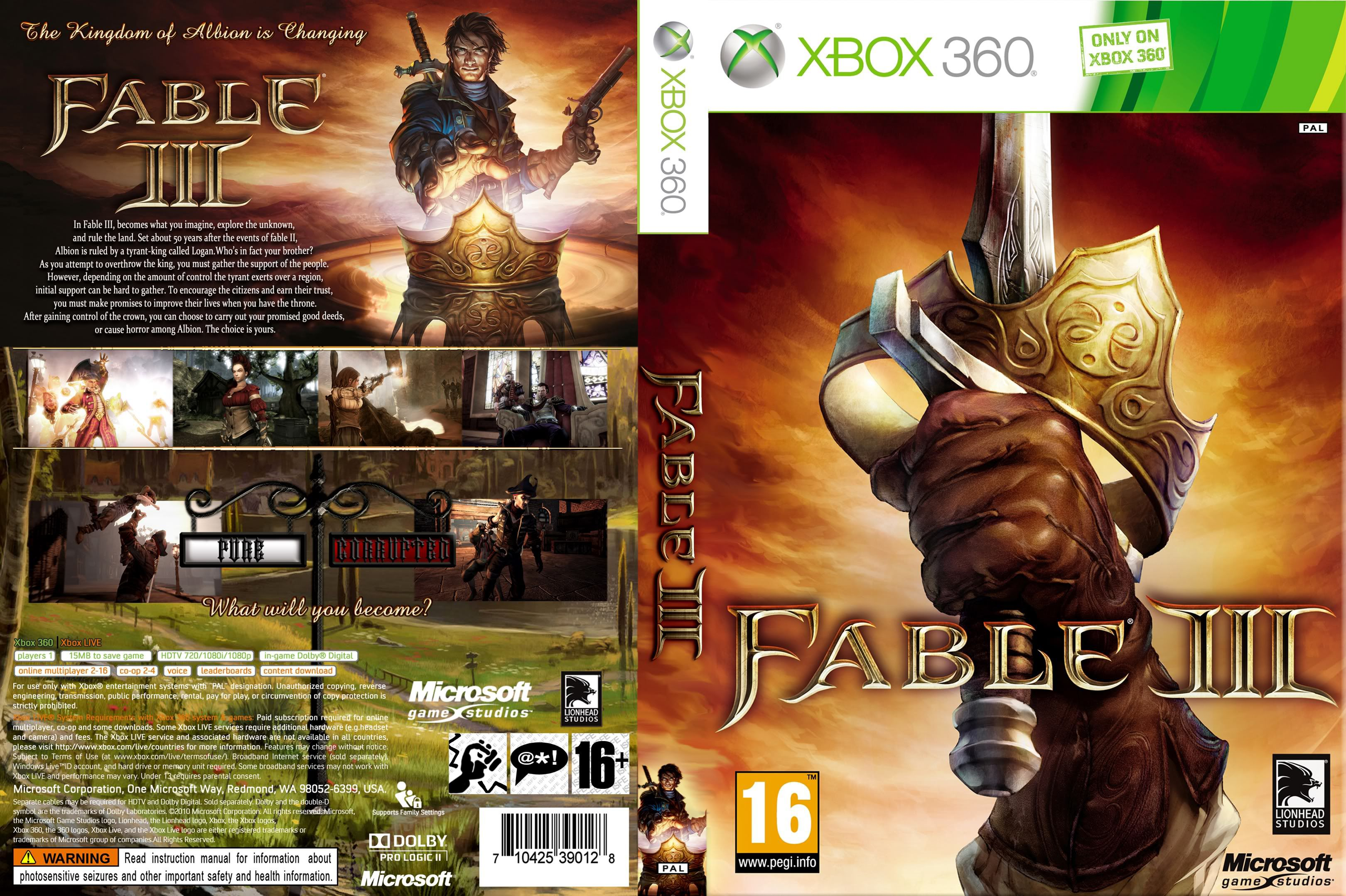 Capa Fable III Xbox 360