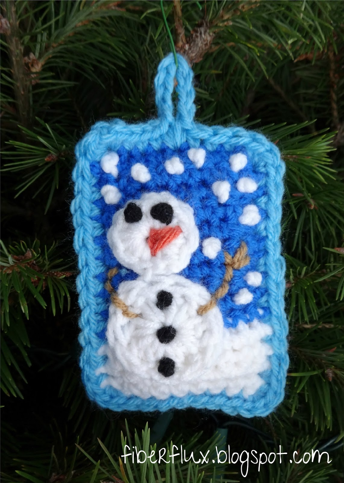 Fiber Flux: Free Crochet Pattern...Snow Day Pillow Ornament!
