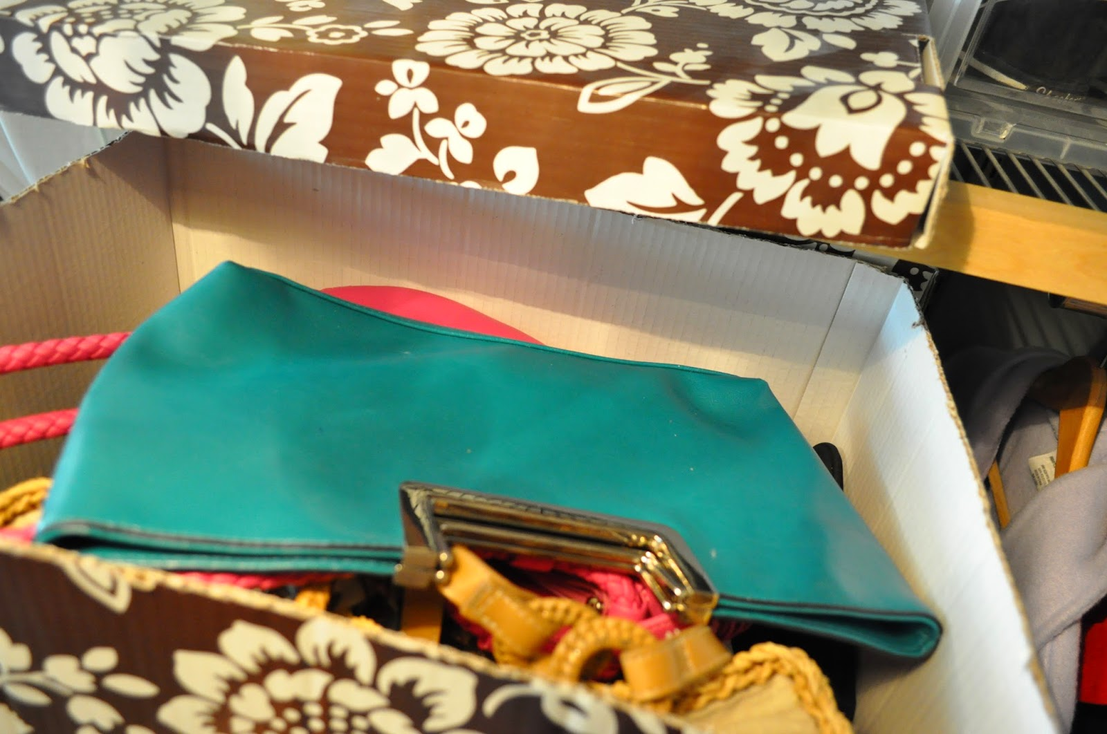 25 of My Best Organizing Hack: Cardboard box for organizing purses:: OrganizingMadeFun.com