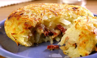 Receita de Batata com carne-seca e requeijão