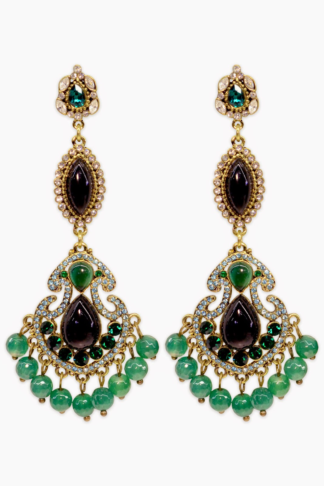 badgley mischka entrancing emerald earrings