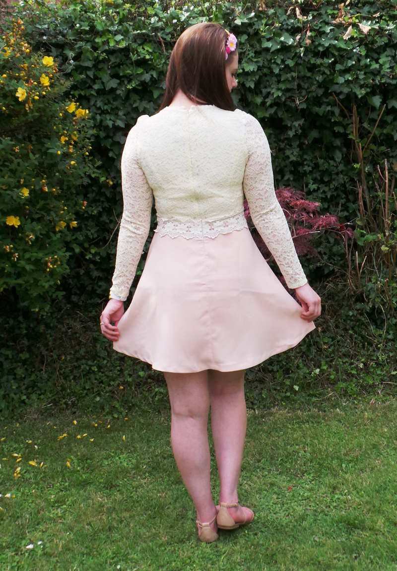 outfit, vintage brand, vintage clothing, pretty dresses, darccy, darccy dress, darccy modity dress, summer, fashion blog, fashion, fashion blogger, fbloggers, fbloggersuk, fblogger, uk style blog, uk style blogger, etailpr, blogger network, floral, floral hair, floral headband, nude, lace dress, modity dress, skater dress,