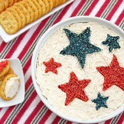 Patriotic Chicken Dip