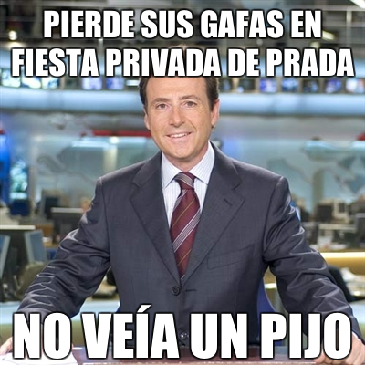 Matías Prats: 'Pierde sus gafas en fiesta privada de prada'