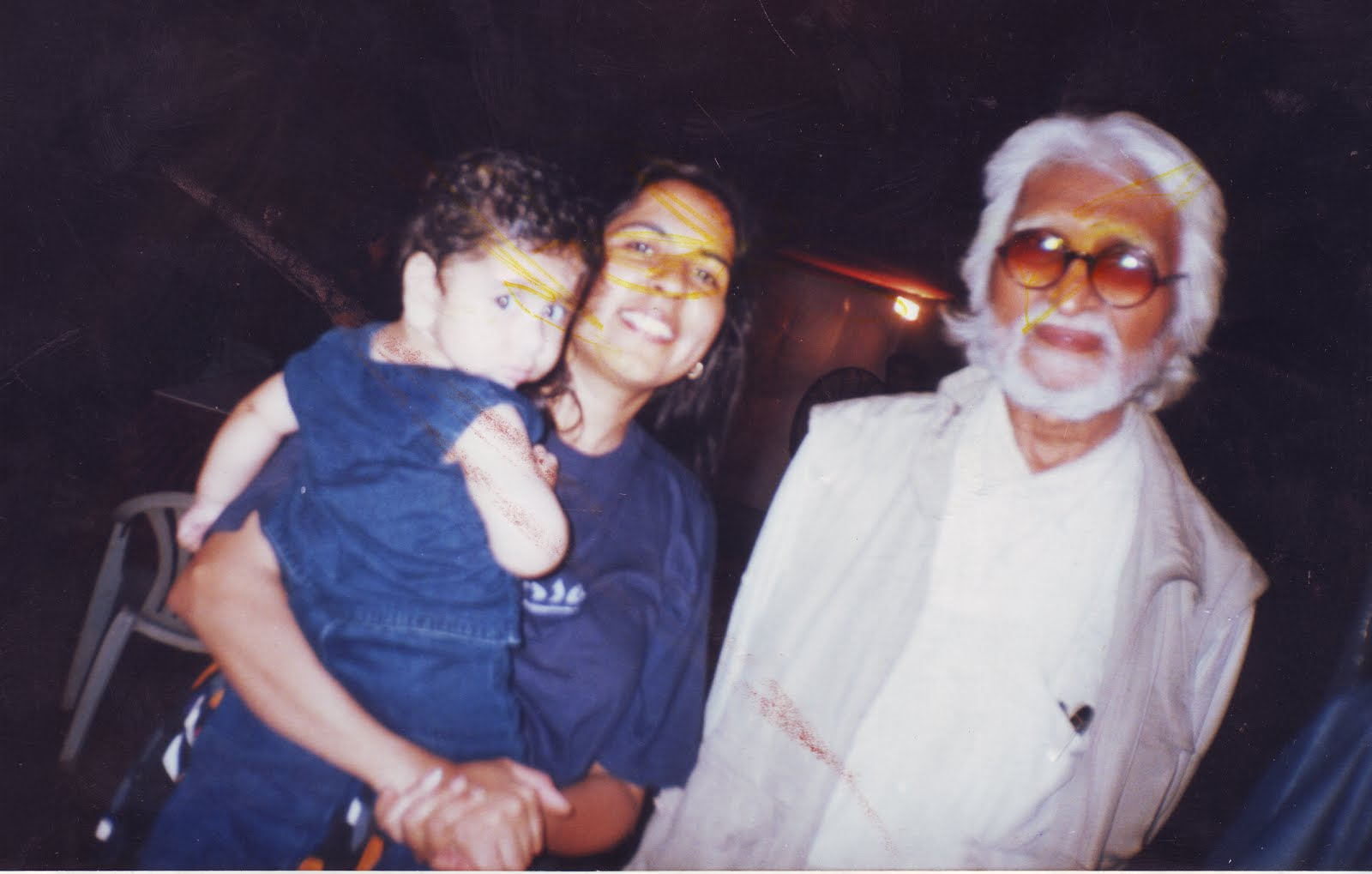 m. f husain me and ny son kabeer in bombay