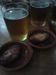 Cerveza y alitas